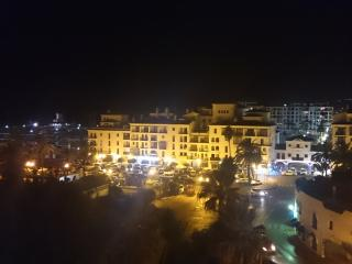 view from the balcony of Puerto de la Duquesa at night