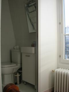 lavatory and its mirror