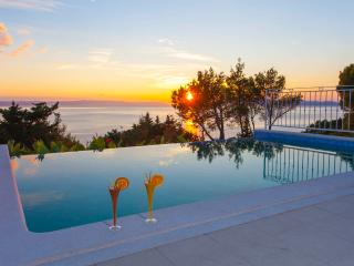 Infinity pool sea view Villa Finestra in Tučepi- Makarska Riviera