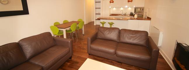Lounge, open plan to dining and kitchen