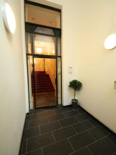 Shared entrance doorway