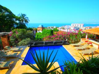 4 to 9 Bdrm Villa Excellent Location,Full Staff, Puerto Vallarta