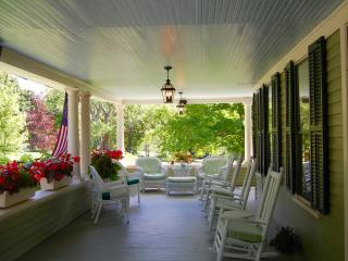 the veranda in summer