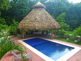 Our poolside tropical tiki hut, the perfect spot for total relaxation.