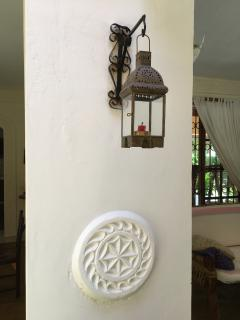 Swahili style deco is the main theme of the villa