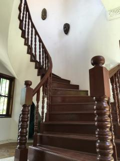 Stairs leading up to the bedrooms