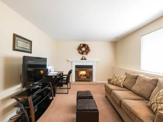 Lower living Room with gas fireplace, flat screen tv, dvd player and wireless internet