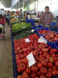 The vegetable hall at Fethiye market.  Well worth a visit.