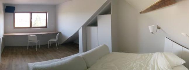 panoramisch beeld van de slaapkamer