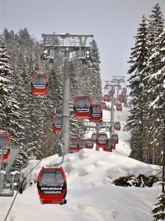 Skigebied Winklmoosalm/Steinplatte bij Reit im Winkl.