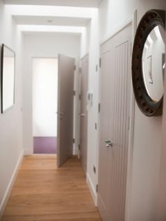 Light filled hallway of the Benheath apartment