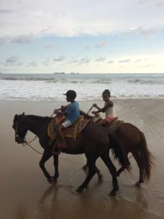 Horseback riding on Playa Larga