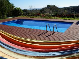 Costabravaforrent Casa Rosa, para 12, piscina, Foixà