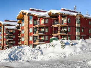 A one bedroom ground floor vacation condo in Happy Valley in Big White, BC