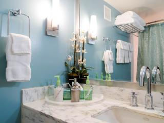 Newly fully repainted interior! Bathroom has many amenities provided for your convenience.