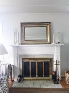 Wood burning fireplace - one of two.