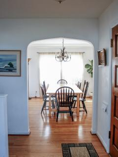 view of dining room from entryway - across from living room.