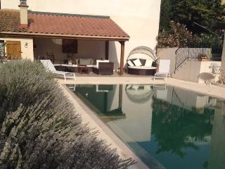 Puissalicon holiday apartment South of France with pool, sleeps 2