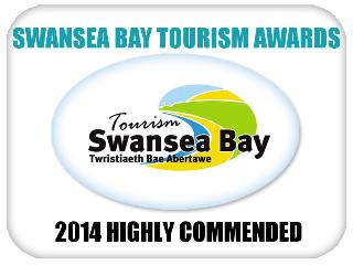 Highly Commended Award 2014 http://www.tourismswanseabay.co.uk/