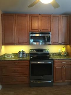 Spacious new cabinets
