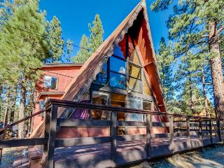 Rustic A-frame cabin w/ private hot tub - close to ski and beach access!