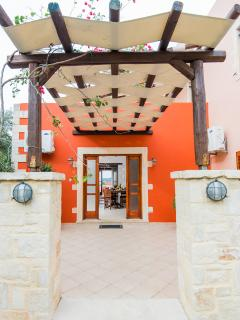 The entrance of the Villa and the front terrace!