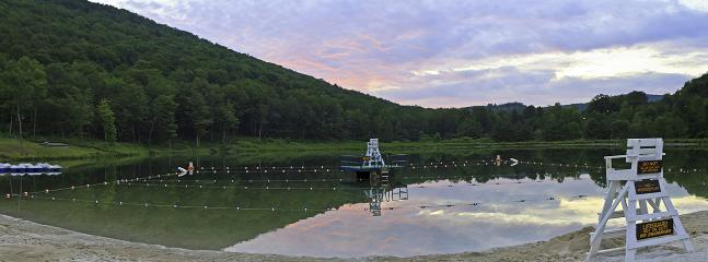 Belleayre Beach ayt Pine Hill Lake.  Facilities, boat rentals & lifeguards, only 3 miles away.