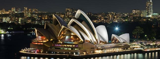 View of the iconic Sydney Opera House from The Rocks