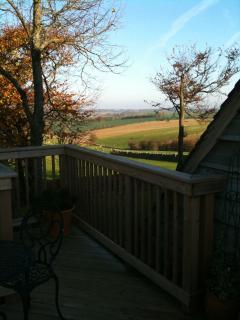 An easterly view from the private raised deck