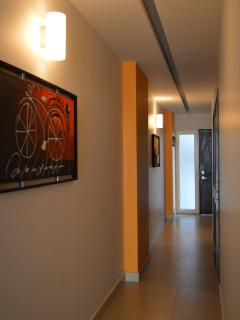 Hallway  and condo decorated with Art from Tonalá, Jalisco