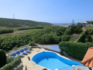 Villa swimming pool with views to the sea