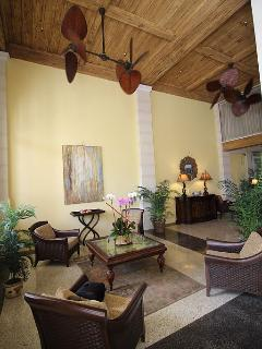 Entry Lobby. One of many comfy seating areas in the hotel.