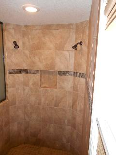 Large walk-in master shower