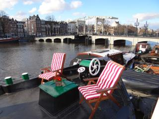 Lovely houseboat Amstel River (Skinny Bridge Boat), Amsterdam