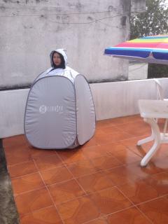 Thema Spa Nuevo en la Terraza es para desintoxicarse y adelgazar. Además existe un BBQ. muebles.