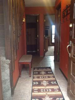 Ground level entrance into condo front door