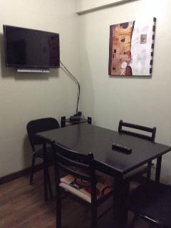 Dining area with cable TV and WIFI internet