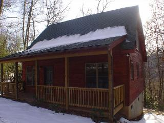 Modern Log Cabin With Bubbling Hot Tub, Fire Pit, Foosball, Gas F/P & Wifi!