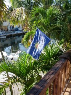 Official Conch Republic Flag proudly raised