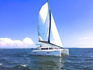 Beautiful Yacht overlooking the Annapolis harbor