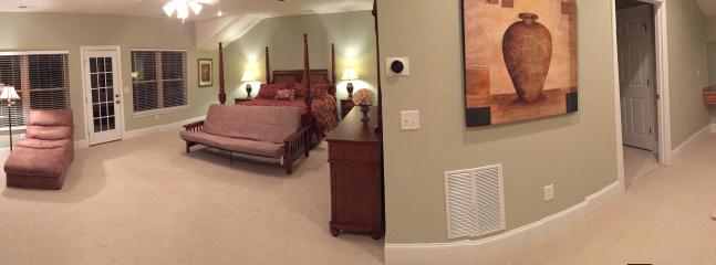 "Upper level wide angle view of ""Honeymoon Suite"""