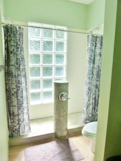 The upper master suite shower built for two....