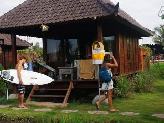 keramas surfcamp bali at rice padi