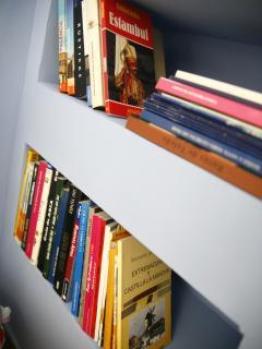 Libreria en baño principal