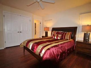 Spacious master bedroom with Queen bed and attached full bathroom