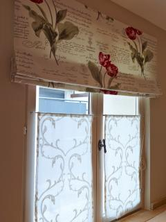 French fabric curtains and blinds