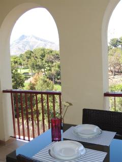 Lovely terrace with views to the golf course.
