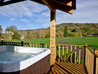 Woodpecker Lodge, Redlake Farm located in Glastonbury, Somerset, Compton Dundon