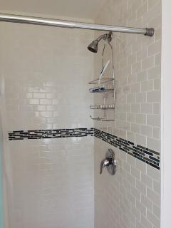 Designer subway tile shower   all new
