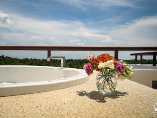 TAO Inspired Penthouse w/ Jetted Tub, Akumal